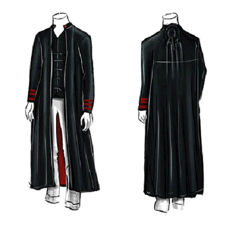Conceptual drawings of the new robes which were agreed upon by the Council of Judges.